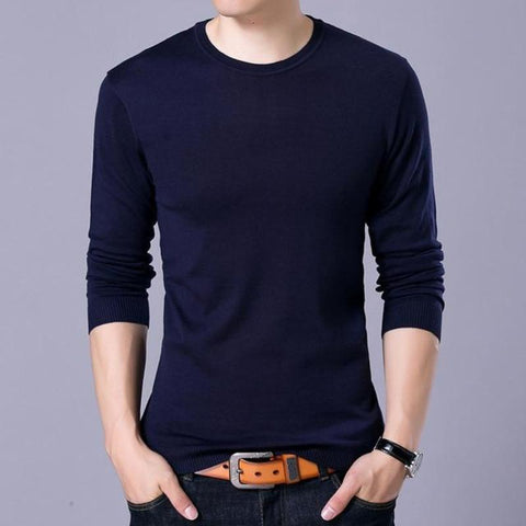 Fashion Solid Men's Sweater
