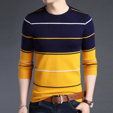 O-Neck Striped pullover Sweaters
