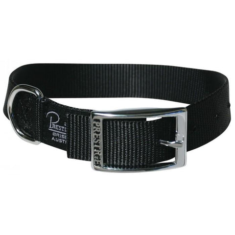 "Dog Collar Single Layer Nylon Belt Buckle Style 1"" Wide Prestige"