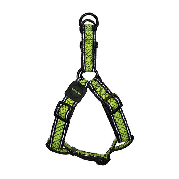 Dog Harness Reflective Step-in Harness Loud Adjustable- Scream