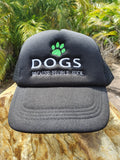 "Truckers Cap"" Dogs Because People Suck"" Mesh & Snap Adjuster"