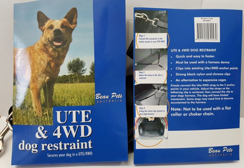 Dog Restraint Strap Ute/4WD/Wagon 25mm Beau Pets