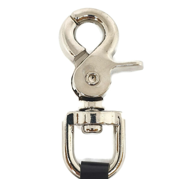Dog Clip - Trigger Snap Hook - Crab Claw Swivel Nickel Plated