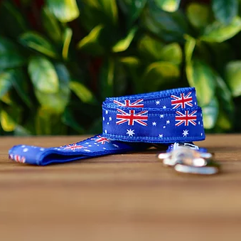 Aussie - Australia Flag Dog Lead - Hand Made by The Bark Side.