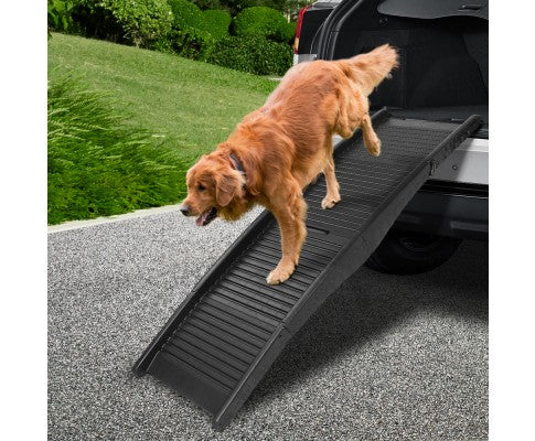 i.Pet Portable Folding Pet Ramp for Cars - Black