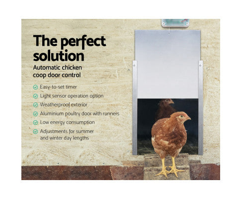 Giantz Automatic Chicken Coop Door Opener Cage Closer