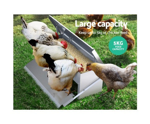Giantz Auto Chicken Feeder Automatic Chook Poultry Treadle Self Opening Coop
