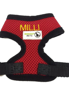 Doggie ID Harness Soft Air Mesh Personalised Embroidered