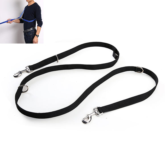 Multi Dog Leash - Coupler, Waist Belt, Short/Long, Quicktie Moondidley Pets