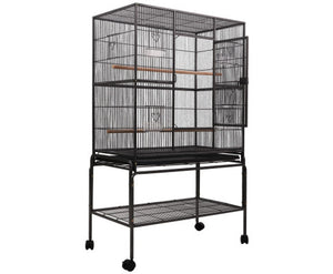 i.Pet Large Bird Cage with Perch 140cm - Black