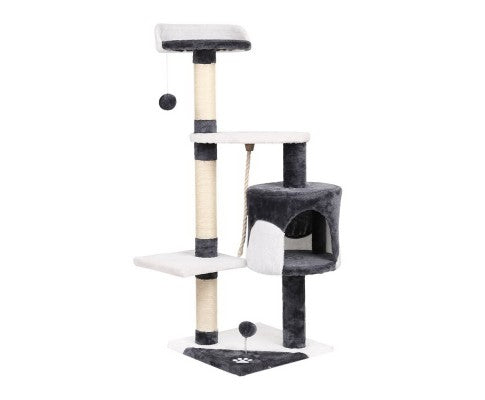 i.Pet Cat Scratcher Pole - White and Grey