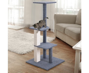 124cm Cat Scratching Tree Post - Grey