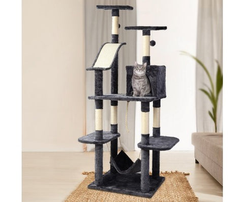 i.Pet Cat Tree Trees Scratching Post Scratcher Toys Condo House Furniture Wood 171cm