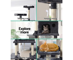 i.Pet Cat Tree Trees Scratching Post Scratcher Toys Condo House Furniture Wood