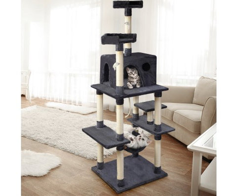 i.Pet Cat Tree Trees Scratching Post Scratcher Toys Condo House Furniture Wood 184cm