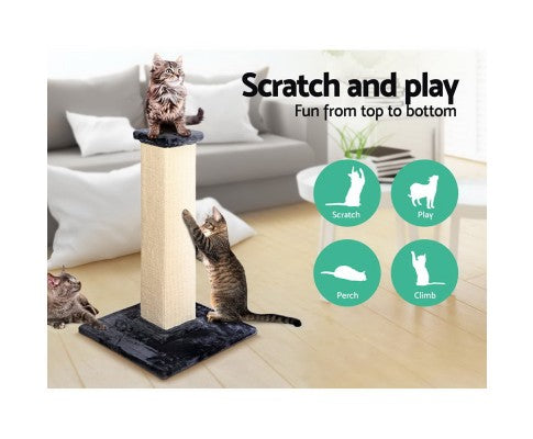 92cm Cat Scratching Tree Post - Blue & Beige