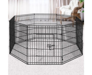 "i.Pet 30"" 8 Panel Pet Dog Playpen Puppy Exercise Cage Enclosure Play Pen Fence"