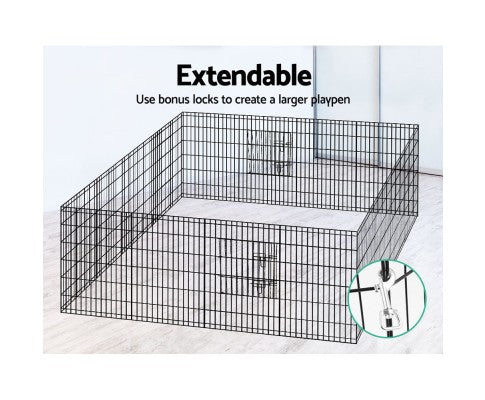 36 Inch 8 Panel Portable Pet Exercise Playpen