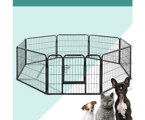 i.Pet 8 Panel Pet Dog Playpen Exercise Enclosure Fence Portable 60cm High