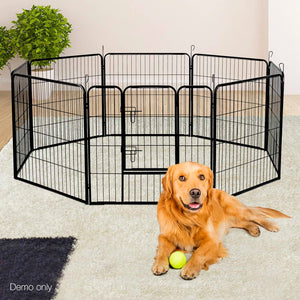32 Inch 8 Panel Portable Pet Exercise Playpen