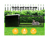 i.Pet Rabbit Cage Hutch Cages Indoor Outdoor Enclosure Pet Metal Carrier 122CM Length