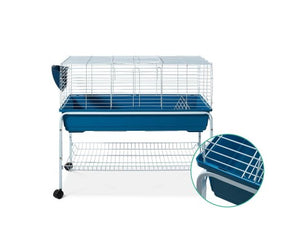100cm Bunny Home Rabbit Guinea Pig Cage Hutch with Stand