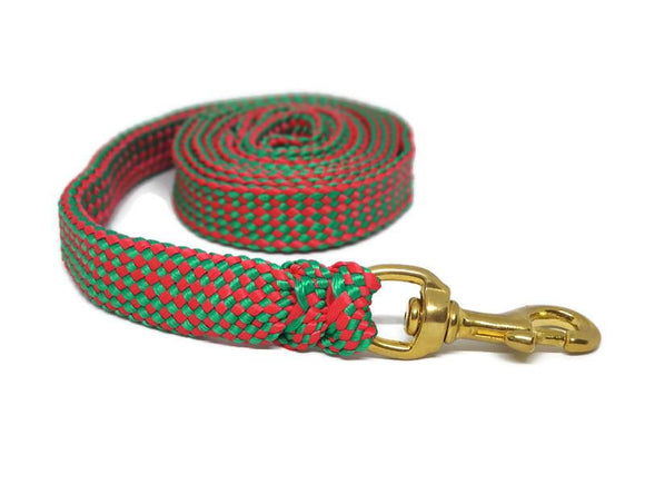 Christmas Dog Lead No Stitching Tough Yarnix 20mm Wide 1.8m to 10m Long