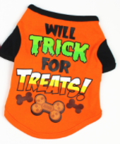 Pet Costume Halloween Shirt - Will Trick For Treats!
