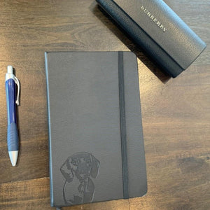 Dachshund Notebook – A5, Hardcover, PU Leather, 100gsm Lined Pages, Bookmark
