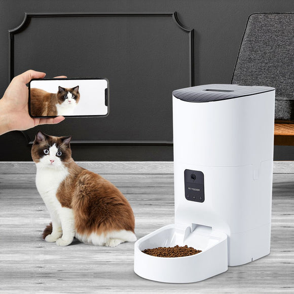 Smart Pet Feeder Camera Dog Cat Automatic Food Dispenser Portable Remote Bowl