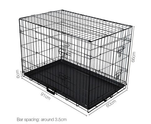 i.Pet Collapsible Metal Pet Cage Training Crate