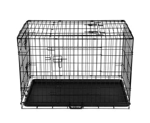 i.Pet Collapsible Metal Pet Dog Cage Training Crate