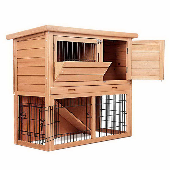86cm Wooden Rabbit Chicken Guinea Pig Hutch