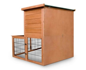 2 Storey Rabbit Hutch Chicken Coop Guinea Pig Cage with Under Run