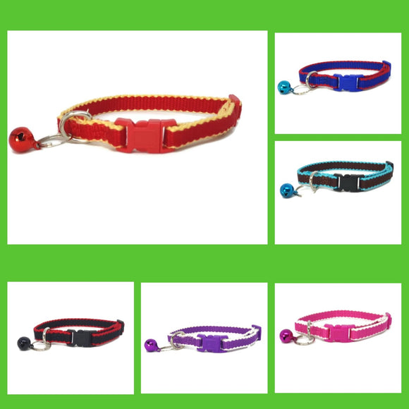 100% Pure Bamboo Fibre Cat Collar Plastic Buckle - Moondidley Pets