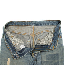 "Load image into Gallery viewer, Number (N)ine By Takahiro Miyashita Distressed ""Pain"" Denim"