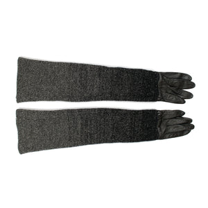 "Undercover ""Earmuff Maniac"" Gradient Knit Leather Gloves (2009AW)"