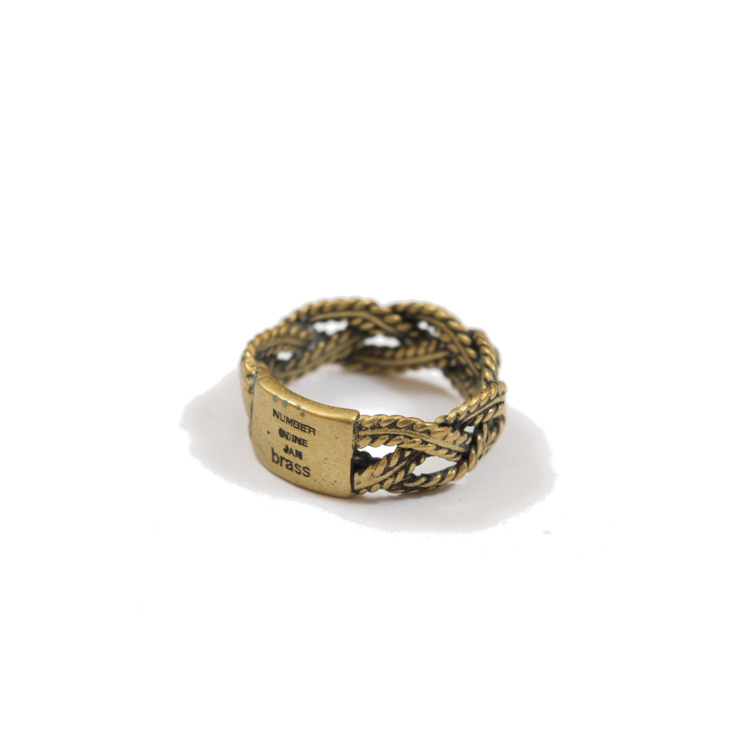 Number (N)ine x Jam Home Made Brass Rope Ring