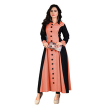 Load image into Gallery viewer, Femigrace Rayon Long Kurti Peach