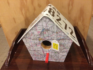 License Plate Birdhouse (Texas)