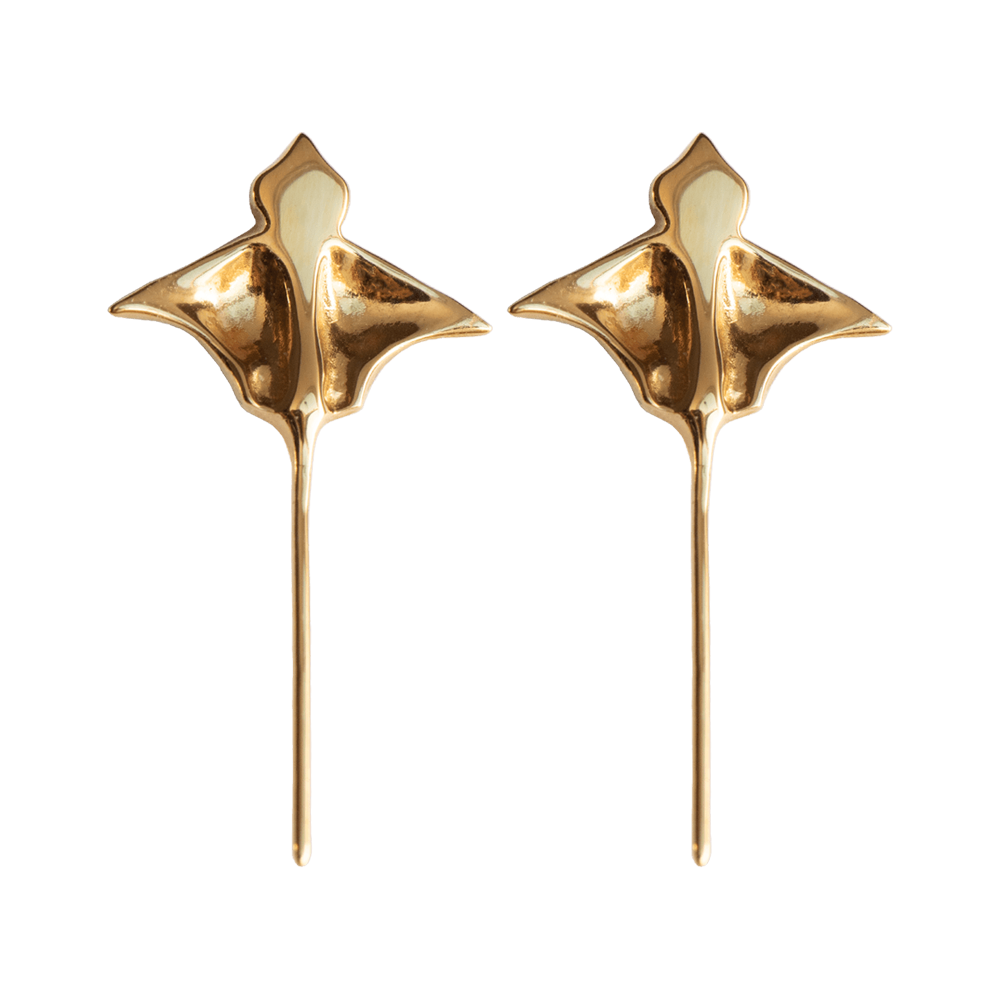LeBlanc Jewellery gold eagle ray studs