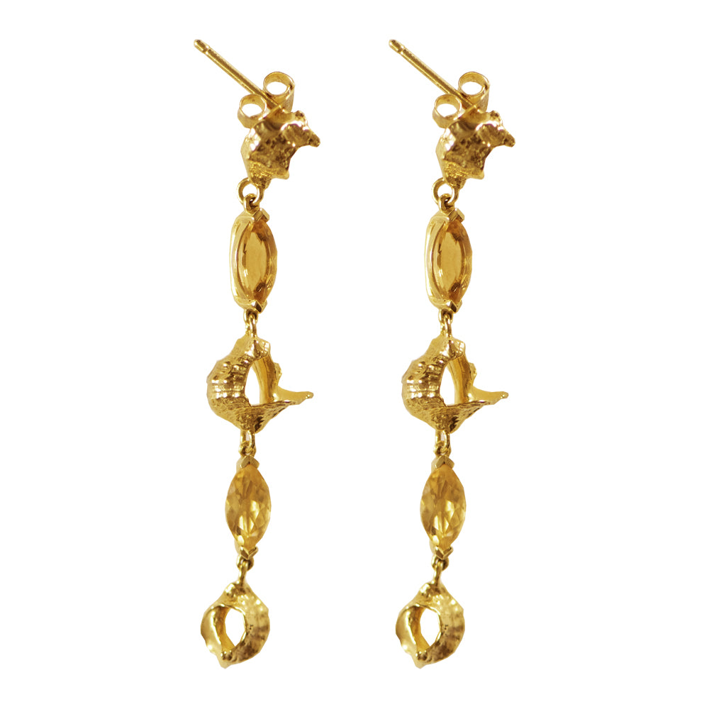Citrine Shell Earrings