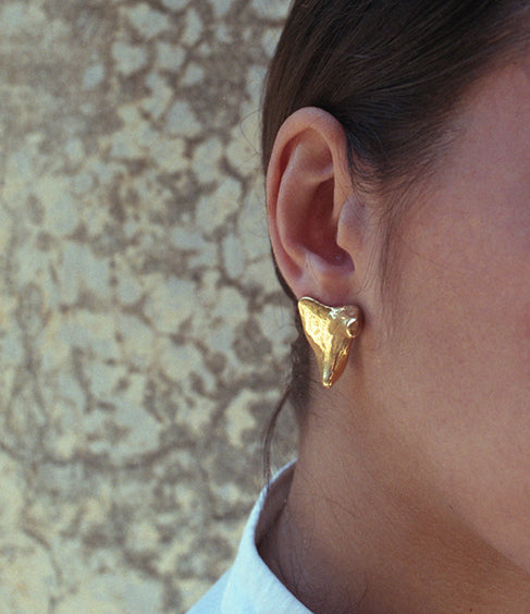 Gold Concha Earring LeBlanc Jewellery
