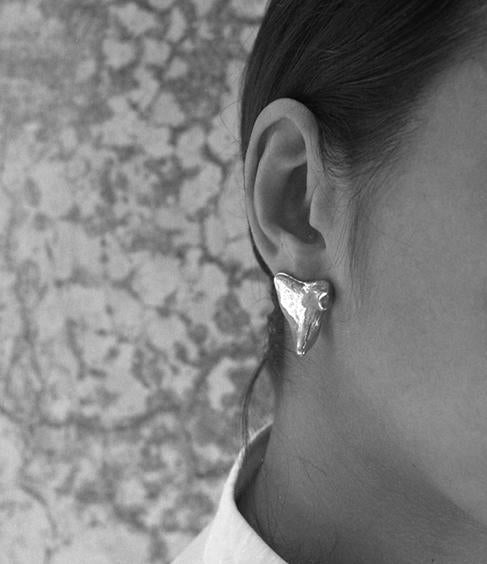 Silver Concha Earrings