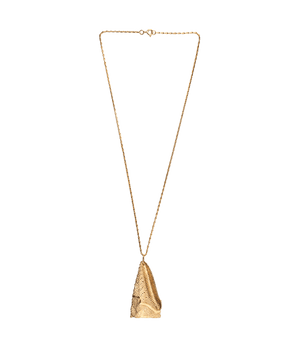 Gold Sand Dollar Necklace