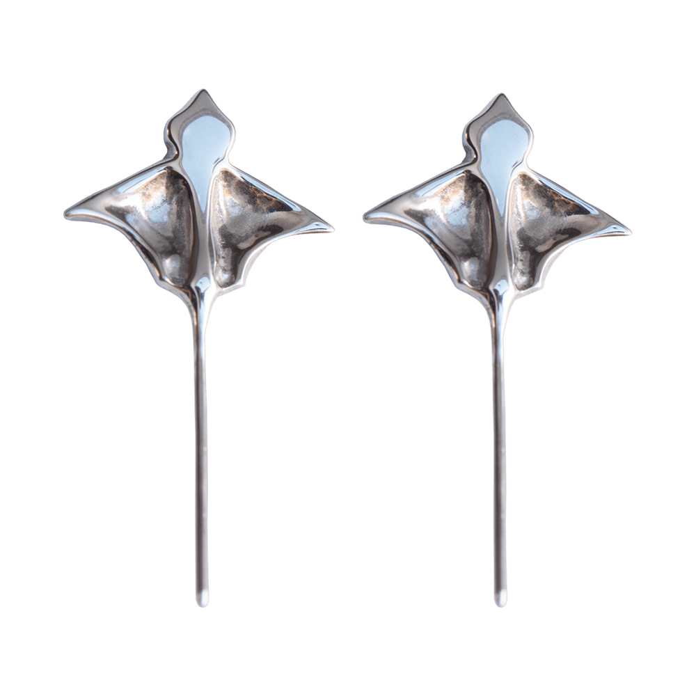 LeBlanc Jewellery silver eagle ray studs