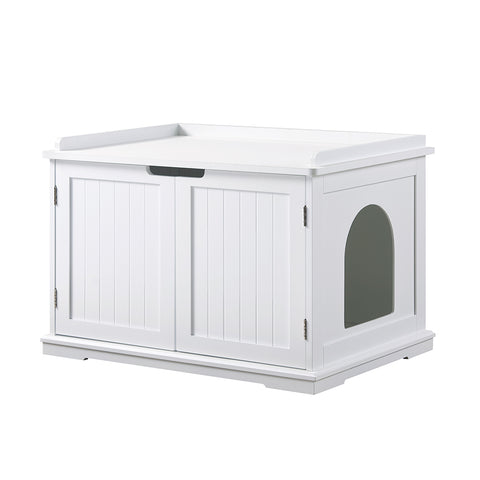 UniPaws Large Cat Washroom Double Cat Litter Box Furniture Enclosure