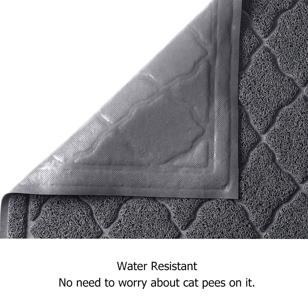 unipaws Cat Litter Trapping Mat, Litter Box Scatter Control Pad, Litter Free Floors and Urine Waterproof, Gentle on Paws, No Phthalate