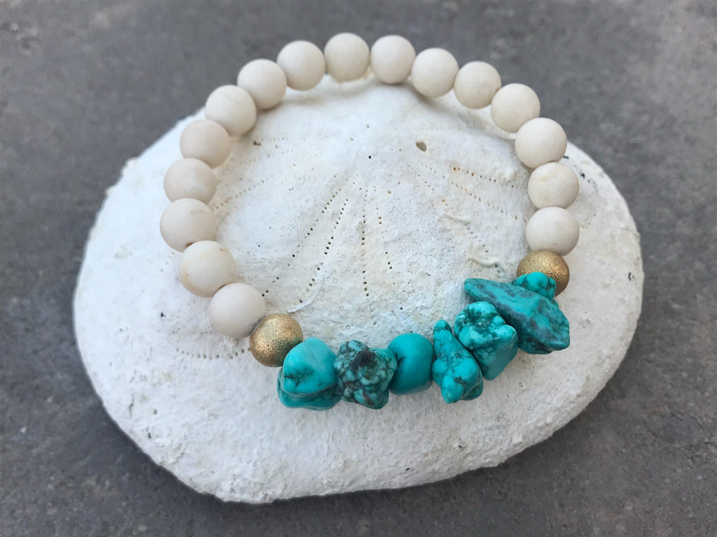 Fossile & Howlite turquoise