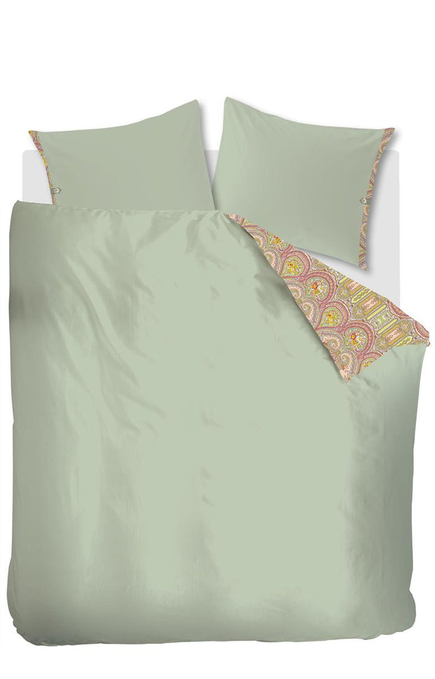 Duvet cover multi size Paisley Ovation Green-Oilily-140x200/60x70(1)-Oilily.com